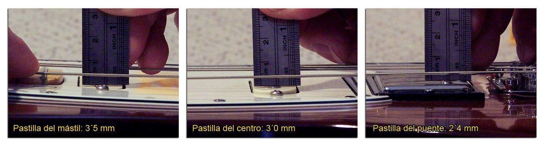 Altura de las Pastillas en una Guitarra Eléctrica HSS (Cuerda Gruesa)