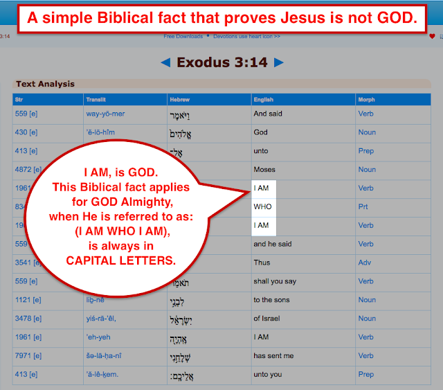 A simple Biblical fact that proves Jesus is not GOD.