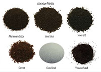 Abrasives Media, steel grit, aluminum oxide, steel shot, gamet, glass bead, volcano sand