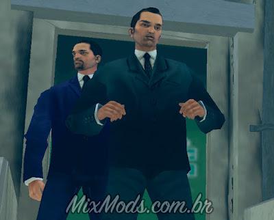 Personagens convertidos do Xbox com mãos separadas para GTA 3