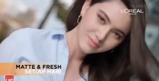 Nama Bintang Pemeran Iklan Loreal Paris UV Perfect Matte & Fresh