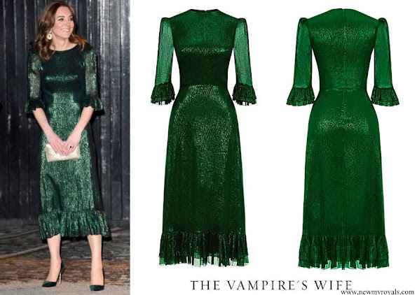 Kate Middleton wore The Vampire's Wife Falconetti Emerald Midi Dress