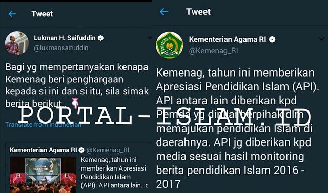 Terkait Pemberian Penghargaan Kepada Metro TV Cs Atas Jasa Majukan Pendidikan Islam, Ini Klarifikasi Kementrian Agama