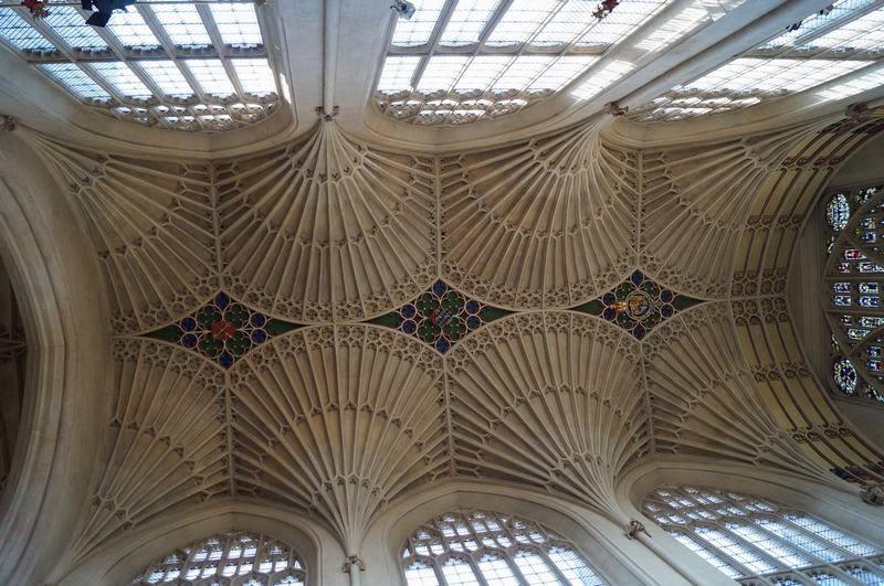 Abadía de Bath, bovedas de catedrales, boveda de abanico