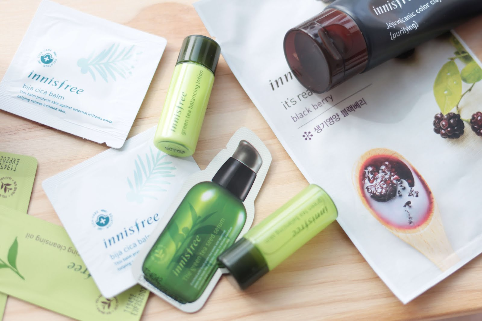 innisfree green tea seed samples