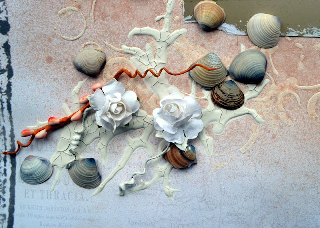 DOWN BY THE SEA SCRAPBOOK PAGE BY AGNIESZKA BELLAIDEA MIXED MEDIA