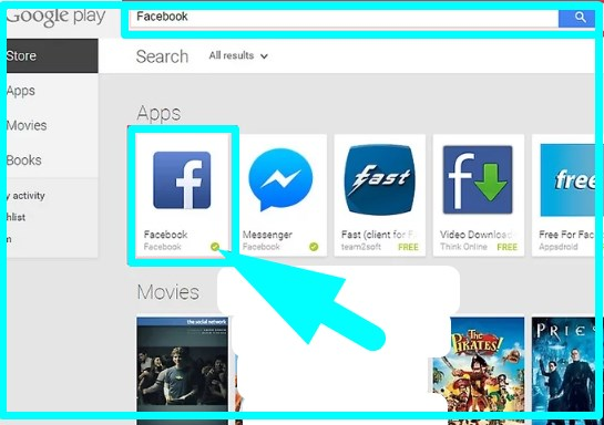 how to install facebook app android from computer