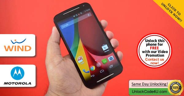 Factory Unlock Code Motorola Moto G 2Generation from Wind