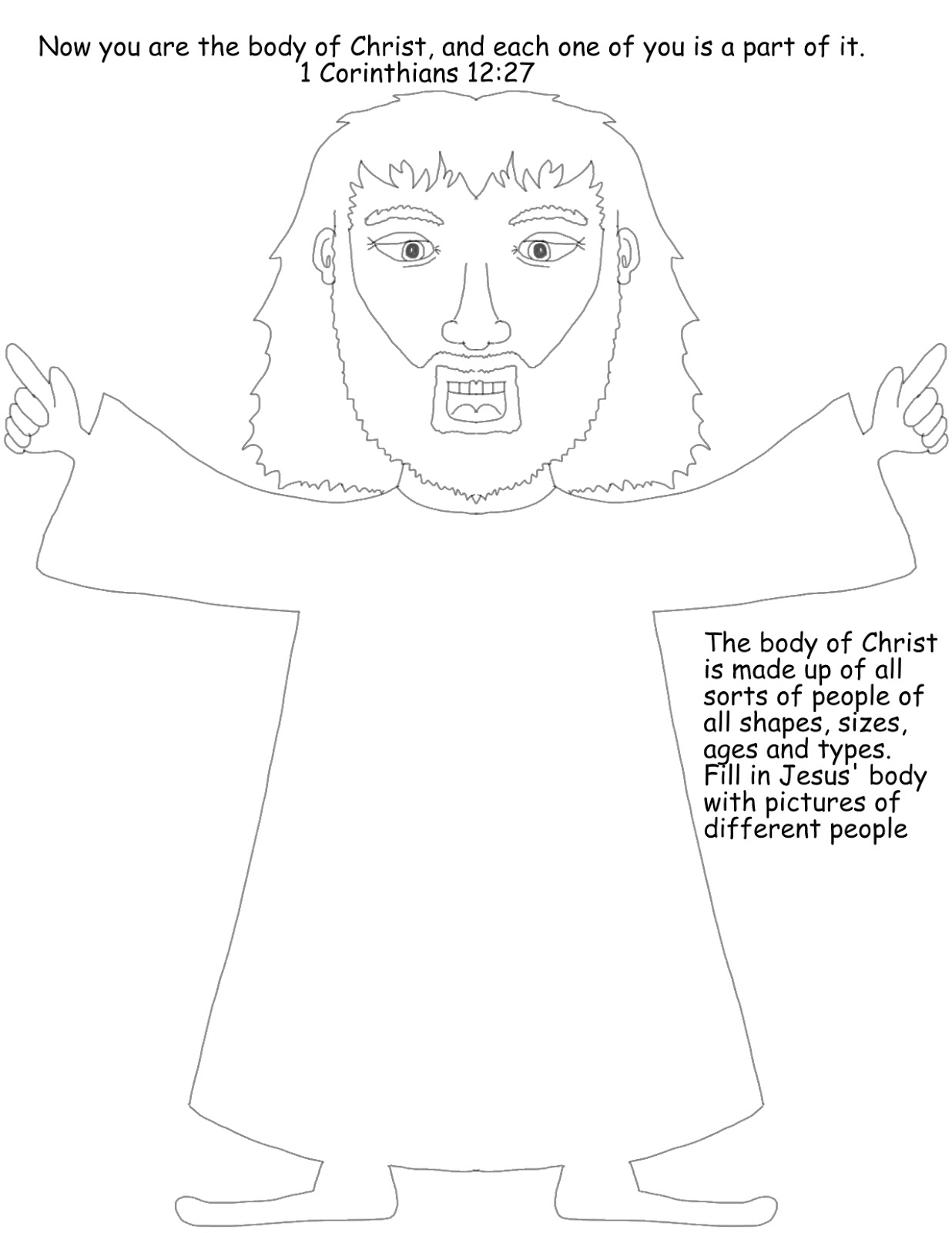 Body Of Christ Coloring Pages