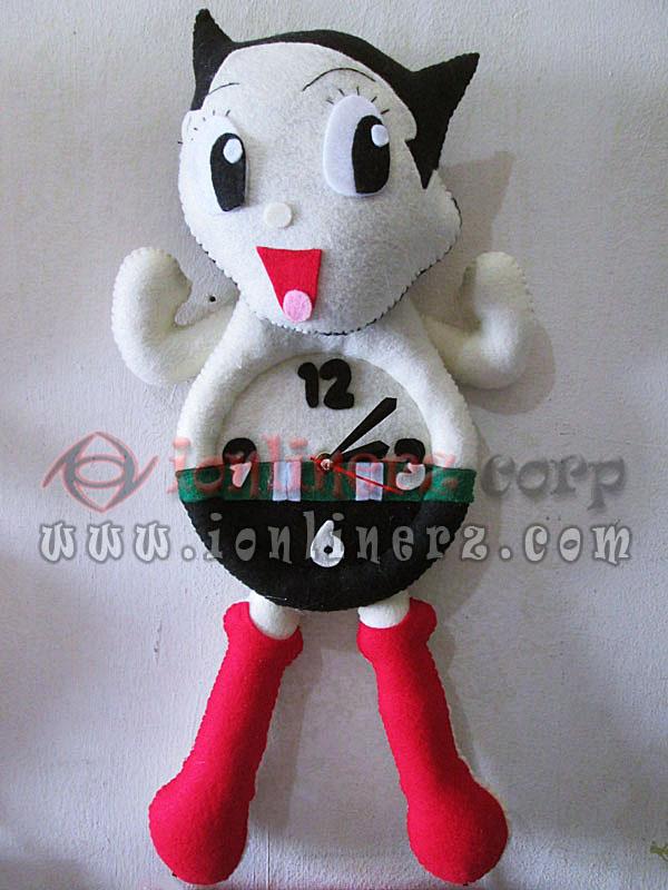 Jam Dinding Flanel Karakter Kartun Boneka Astro Boy