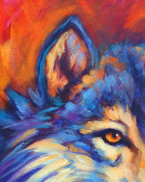 Wildlife Art Of West Colorful Animal Paintings Wolf Theresa Paden