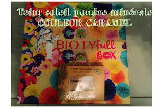 Teint soleil poudre minérale couleur caramel contenue dans la Biotyfull box de juillet 2018
