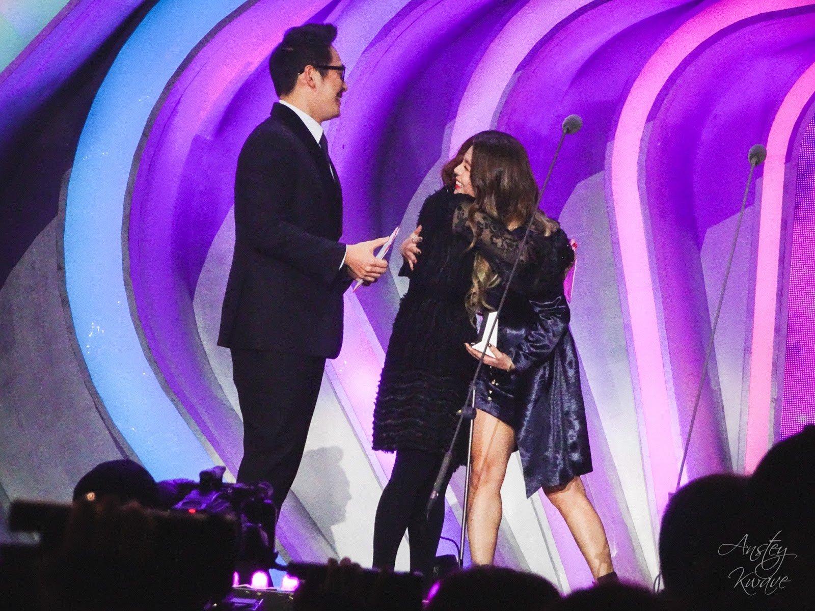 Ailee famous Korean k-pop singer receiving award on stage at Melon Music Awards (MMA) 2017 in Seoul, South Korea