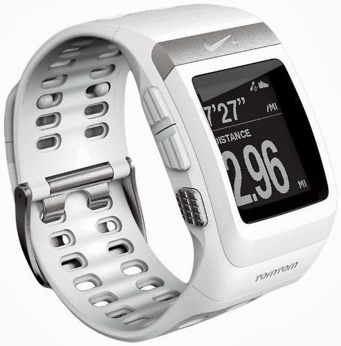 Nike+ SportWatch GPS Powered by TomTom, white silver color
