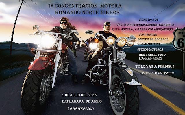 Cartel de la concentración motera de Komando Norte Bikers