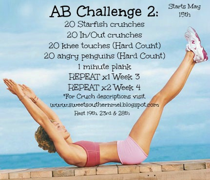Phase 2 of the AB Challenge. Here are my pic descriptions of the new  exercises