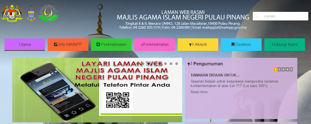Rasmi - Jawatan Kosong (MAINPP) Majlis Agama Islam Negeri Pulau Pinang Terkini 2019