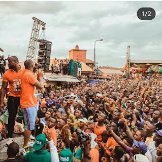 Photos: Davido campaigns for his uncle in Osun