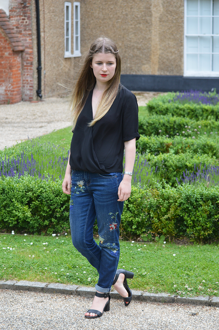 topshop beaded jeans fashion blogger