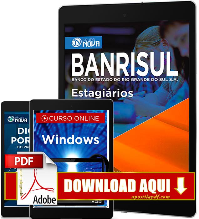 Apostila Banrisul 2016 PDF Download Estagiários
