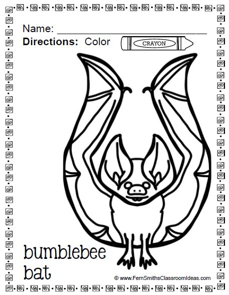 Fern Smith's Classroom Ideas Color For Fun - Bats and Spiders - Perfect for School That Don't Celebrate Halloween at TeacherspayTeachers.