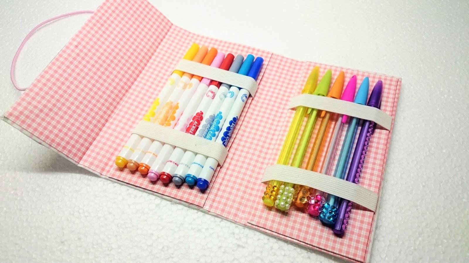 Artesanato Sustentável ~ Artesanato Viviane Magalh u00e3es DIY Estojo com Caixa de Leite Back to School