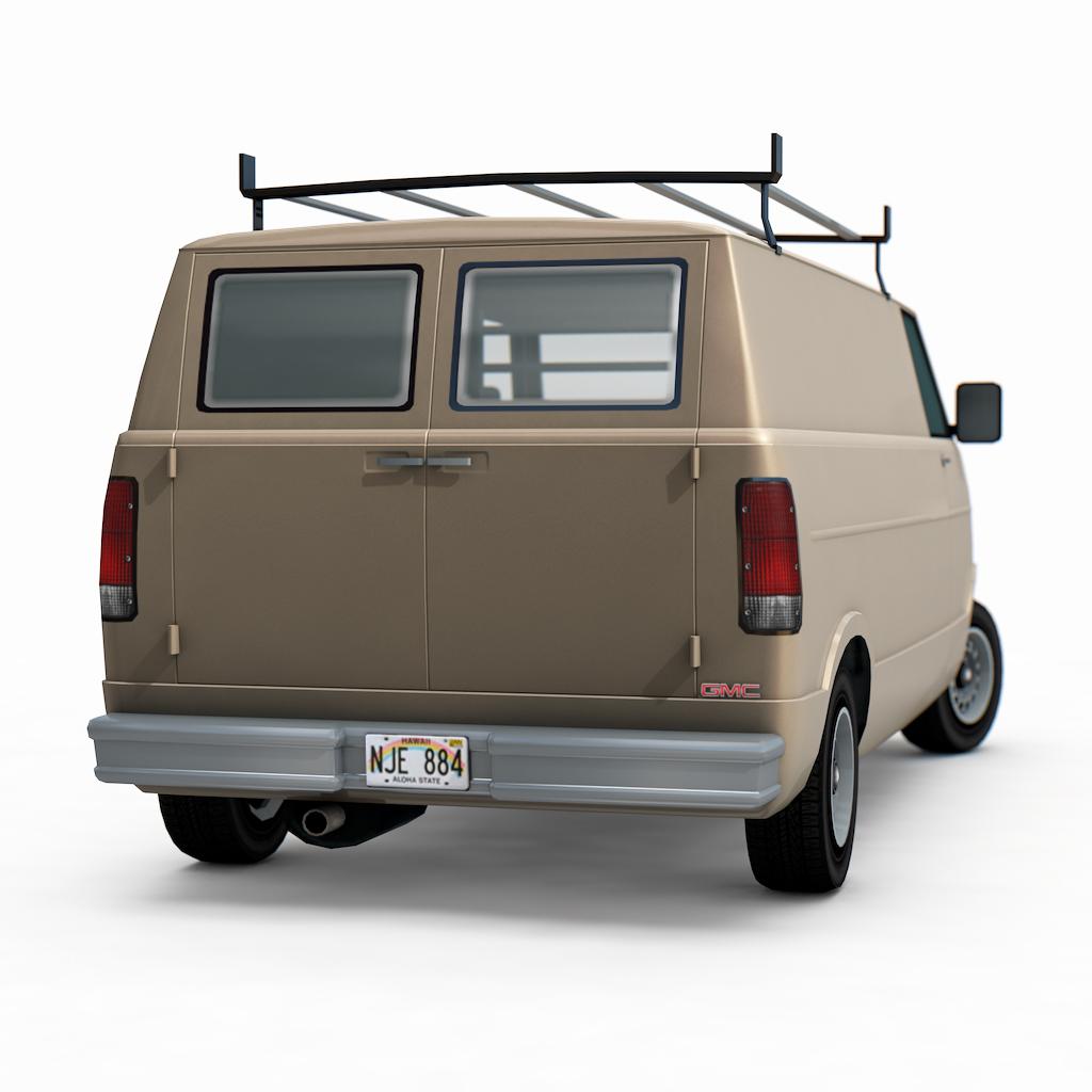 3d auto club 3d model of gmc vandura van