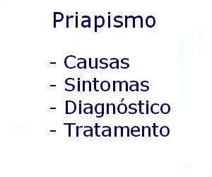 Priapismo causas sintomas diagnóstico tratamento prevenção riscos complicações