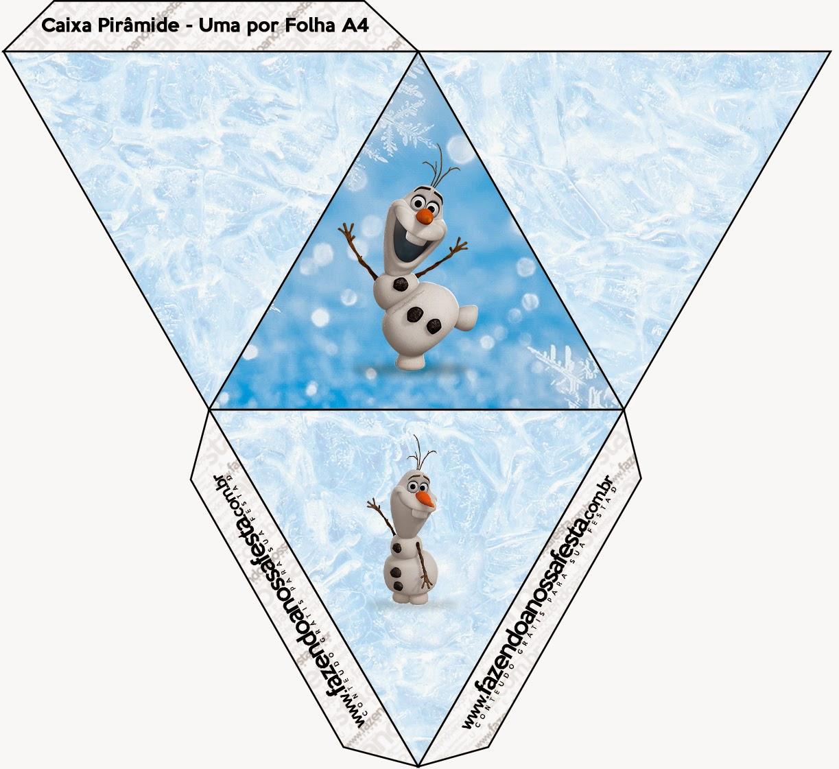 Caja con forma de pirámide de Olaf.