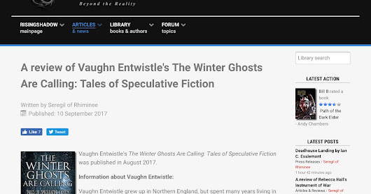 Rising Shadow's Five Star Review of The Winter Ghosts Are Calling