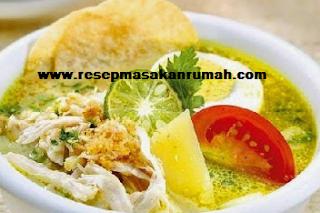Resep Soto Ayam Santan Enak Lezat dan Sederhana