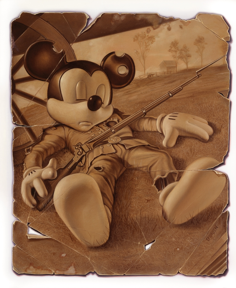 04-Civil-War-Mickey-Mouse-Tim-O-Brien-Conceptual-Paintings-that-use-Art-to-Express-an-Idea-www-designstack-co