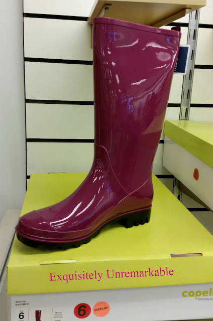 Hot Pink Rain Boot in Store
