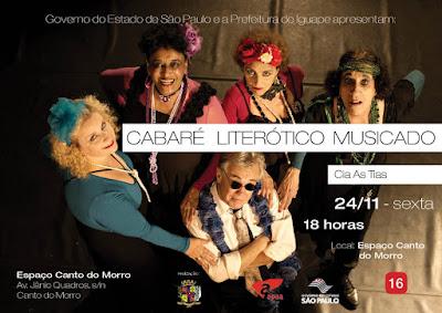 CABARÉ LITERÓTICO MUSICADO EM IGUAPE