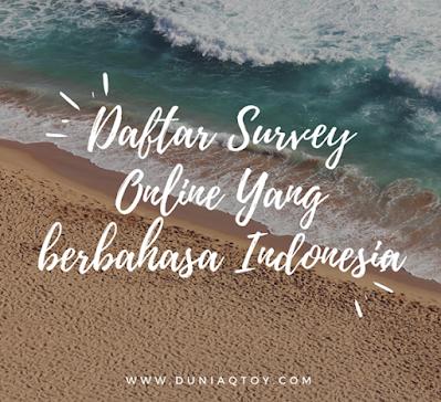 Survey Online Menghasilkan Uang