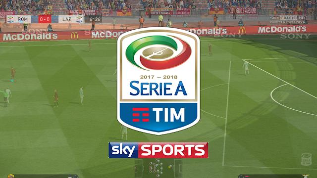 PES 2018 Serie A Scoreboard+Logo TV Sky+Wipe