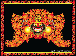 Karang Boma Balinese Gate Decoration Vector