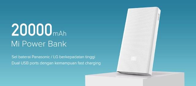 Power bank terbaik dan terkuat - Xiaomi Power Bank 20000 mAh