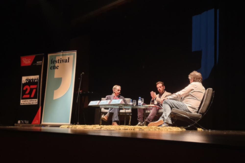 Antonio Soler, Vicente Luis Mora y Sergio del Molino en el Centro Cultural Generación del 27