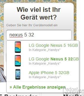 Suchmaske auf WirKaufens.de