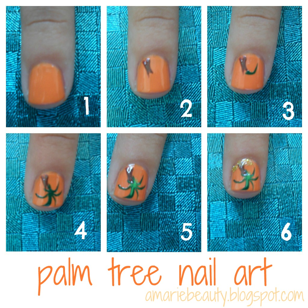 Nail Art Simple Step By Step: Amariebeauty: Palm Tree Nail Art