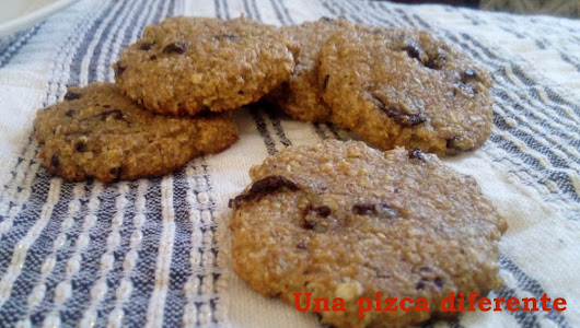 Galletas integrales con Avena y Chocolate sin azúcar