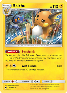 Raichu Burning Shadows Pokemon Card