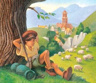قصة الراعي والذئب