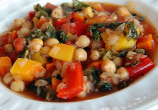 Tunisian Harissa Peppers with Chickpeas Vegetarian Recipe
