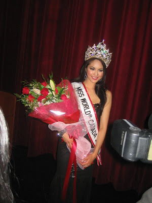 Riza Santos, winner of Miss World Canada 20110