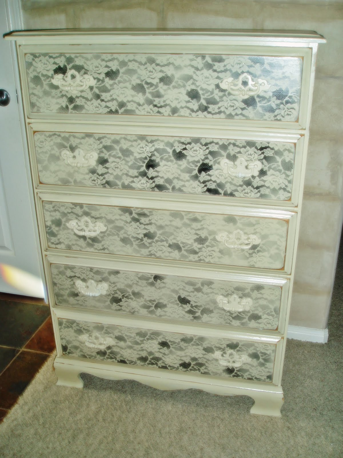 Faux Painting Furniture Rosey Chic 5 Drawer Dresser