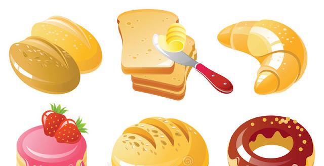 色々なパンのイラスト