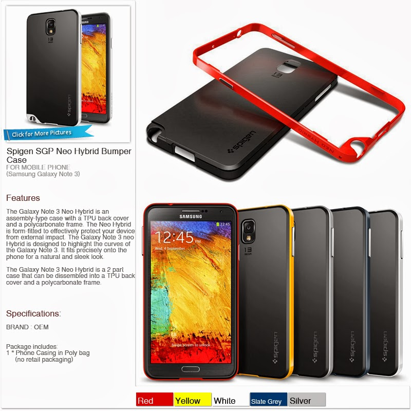 buy popular b5015 dba32 Mimi88 Shop: Phone Casing - Samsung Galaxy Note 3 - Spigen SGP Neo ...