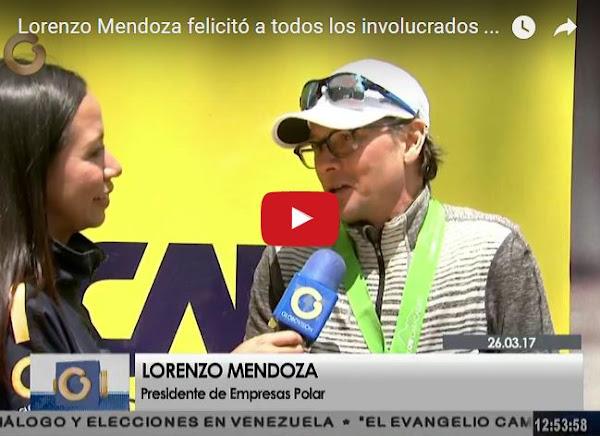 Lorenzo Mendoza en el Maratón que Maduro jamás haría